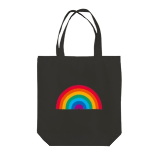 レインボー Tote bags