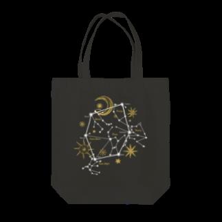 ラビッシュアートの星座|冬空のダイアモンド Tote bags