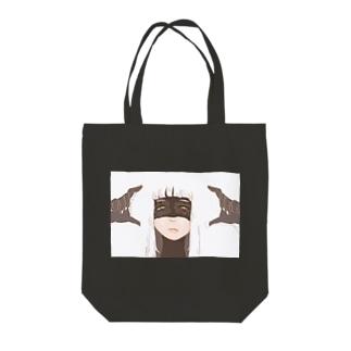 (暗黒微笑) Tote bags