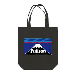 マウント富士 山頂平雪帽子 Tote bags