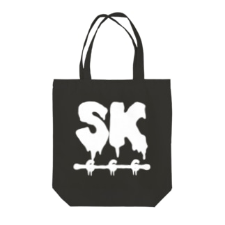 SK Strikethrough(666) Clothing - First Line Black Tote bags