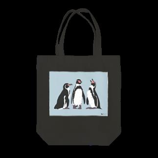 飛べない鳥のフンボルトペンギン Tote bags