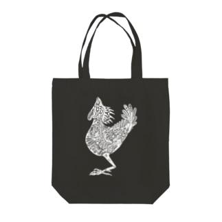 鶏 (white) Tote bags