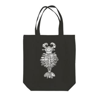 アノマロカリス (white) Tote bags