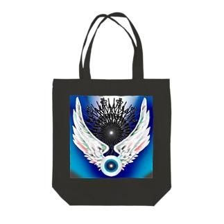 Flying eyeboll Tote bags