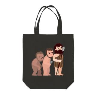 進化論 Tote bags