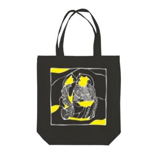 【audace × フクハラアキコ】laperirostum柄 Tote bags