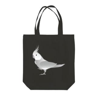 オカメインコ ホワイトフェイス Tote bags