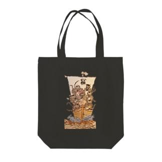七福虎!! Tote bags