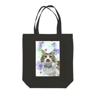ノルウエージャンのモコちゃん Tote bags
