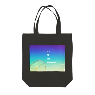 Fly to the Rainbow Tote bags