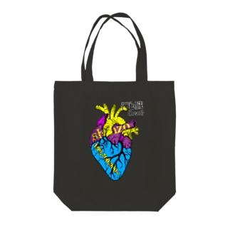 心臓{heart}の値段❤💴 Tote bags