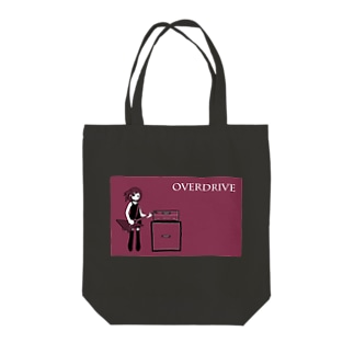 OVER DRIVE Tote bags