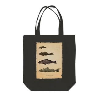 魚類画帳(淡水魚) トートバッグ