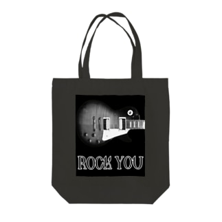 ROCK YOU モノクロ Tote bags