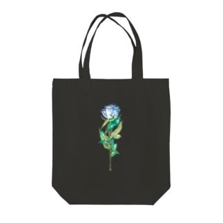 青薔薇 Tote bags