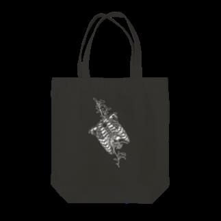 I'm not a robotのBlack-Ribs Tote bags