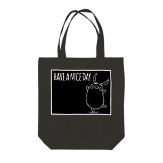 PIGGIE-PIGGY / HAVE A NICE DAY (black) Tote bags