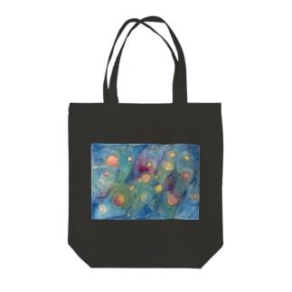 宇宙のシャボン玉 Tote bags