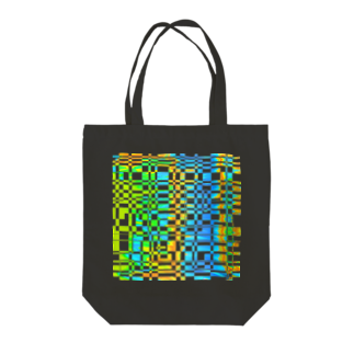 Kazumichi Otsubo's Souvenir departmentのGridplay bright 01 Tote bags
