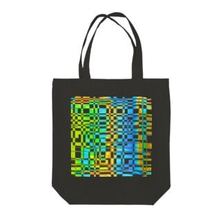 Gridplay bright 01 Tote bags