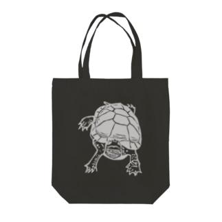 クサガメ Smiley Boggie (GY) Tote bags