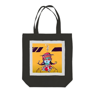 caution girl Tote bags