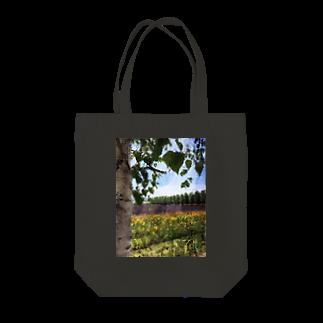 橘麗華の振り向けば、そこは富良野 Tote bags