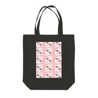 ずっと(ぴんく2) Tote bags