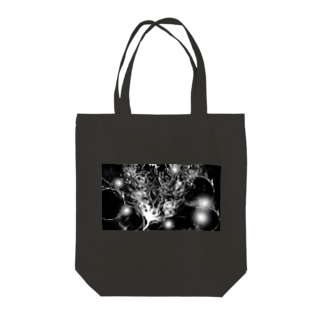 Black drawing Tote bags