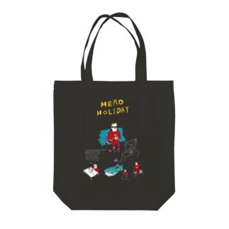 HERO HOLIDAY Tote bags