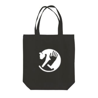 CAT-CATCH-WHITE Tote bags