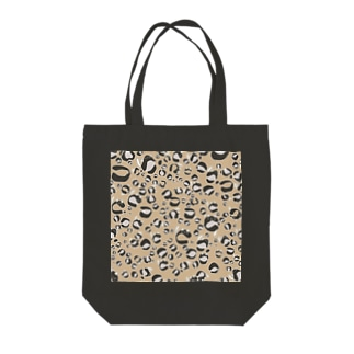 ひょう柄猫ちゃんベージュ Tote bags