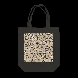 イラストレーター yasijunのひょう柄猫ちゃんベージュ Tote bags