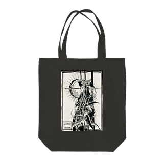 THORES柴本(トーレスしばもと) THORES Shibamotoの漆黒月の旋律(モノクローム) Tote bags