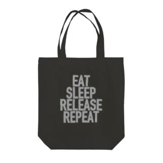 Eat, Sleep, Release, Repeat トートバッグ