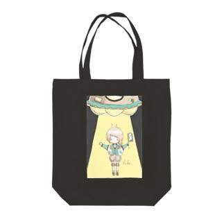 エイリアンガール。 Tote bags