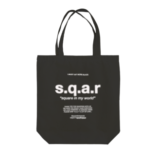 s.q.a.r のMUST GET MORE BLACK Tote bags