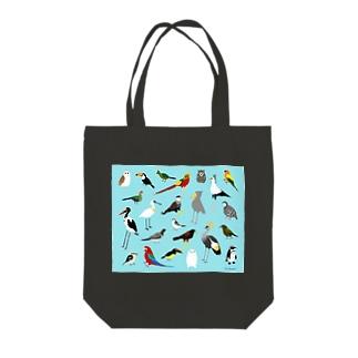 鳥々(とりどり) Tote bags