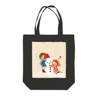 冬の友達 Tote bags