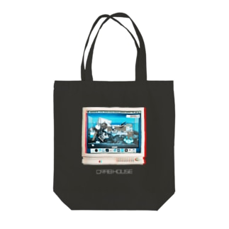 CRAB HOUSE COMPUTER Tote bags