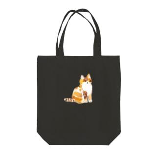 三毛ネコさん Tote bags