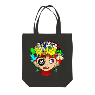 ペロンチョガール Tote bags