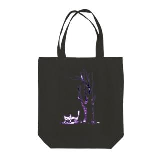 Vivid-cat Tote bags