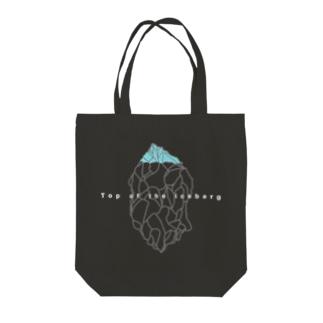 ヒョウザンノイッカク(黒) Tote bags