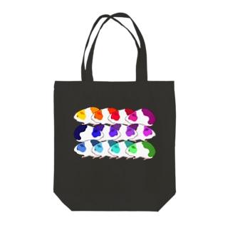 レインボーモルモット軍団 Tote bags