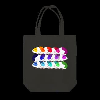 nins・にんずのレインボーモルモット軍団 Tote bags
