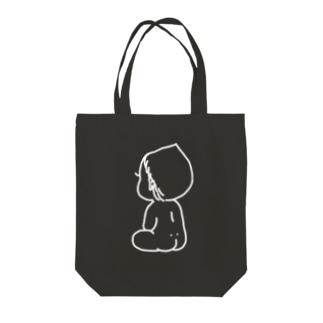 赤ちゃん白 Tote bags