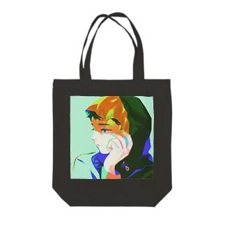 オレンジ Tote bags