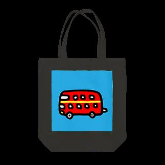 FUKUFUKU=:DESIGNのロンドンにあこがれるばす Tote bags
